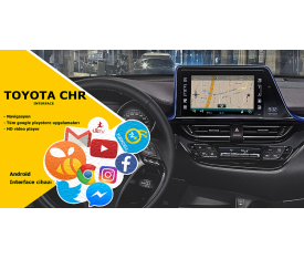 Cyberaudio Toyota CHR İnterface Multimedya  Android ve Navigasyon